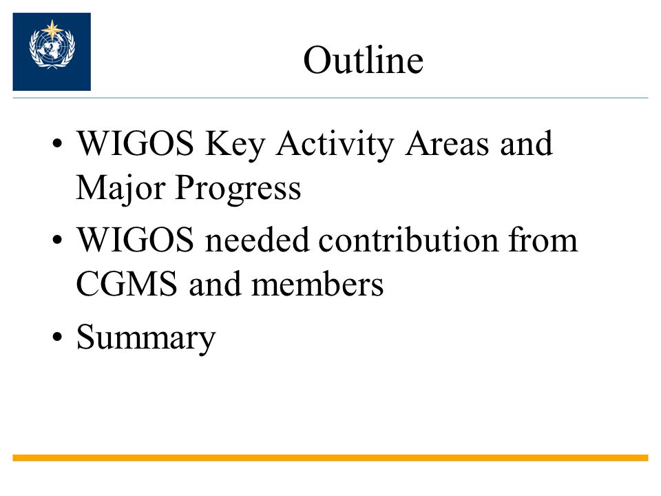 Need an Integrated Global Observing System to meet all requirements in a cost – effective manner  WMO Cg-16 (2011) decisions to Implement W MO I NTEGRATED G LOBAL O BSERVING S YSTEM (WIGOS) The key word is Integration: promote synergy among systems The whole is more than the sum of the parts--Aristotle