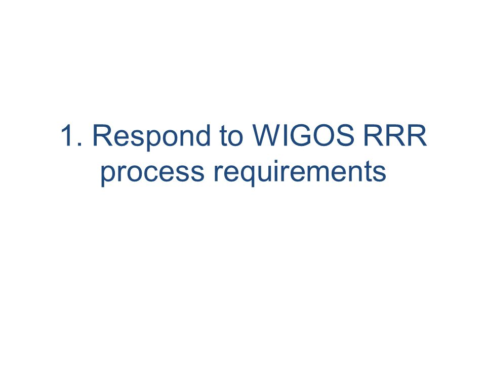 Observational Requirements under WIGOS Framework Inclusion requirements of –Weather, DRR –Climate (GFCS, GAW, Ocean.), –Water (WHYCOS,..) –Environment (GAW, Health) –Research –Cosponsored systems WIGOS Space component From weather satellite to WIGOS space component CGMS new baseline with greatly enhanced global satellite constellations to meet WWW, GFCS, GAW, WHYCOS,GCW etc..