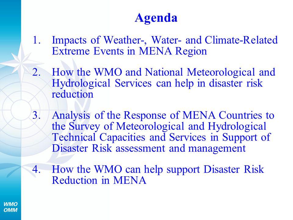 Modernization of National Meteorological and Hydrological Services in MENA Region: Enhancing Potential Contributions to DRR –Bahrain* –Islamic Republic of Iran –Libyan Arab Jamahiriya* –Oman –Saudi Arabia –United Arab Emirates* * With support from UNDP