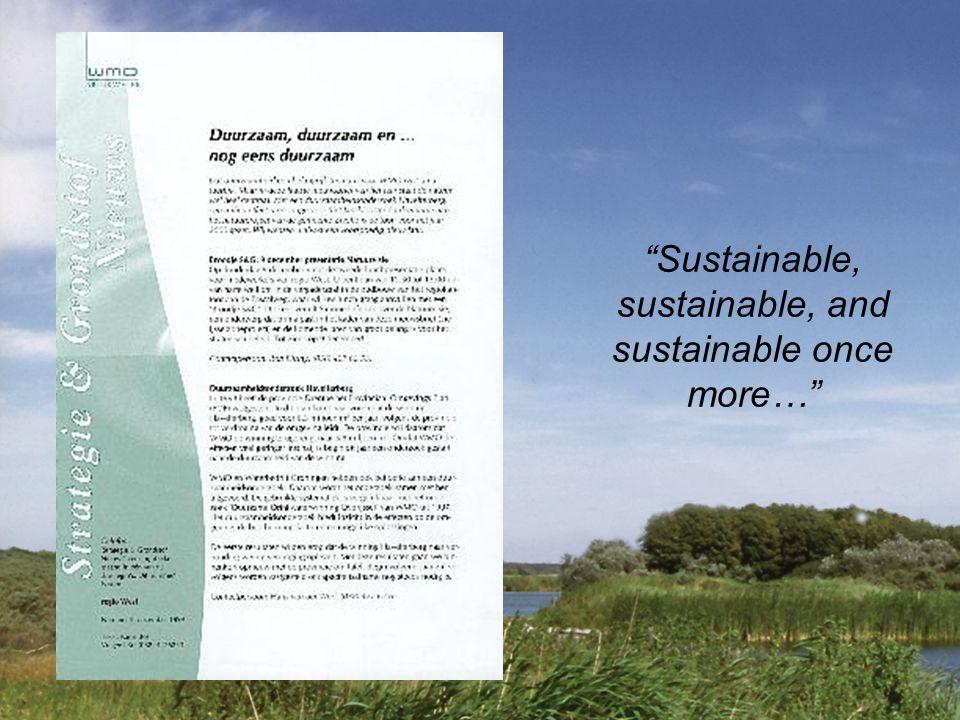 Sustainable, sustainable, and sustainable once more…