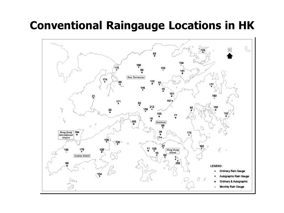 Conventional Raingauge Locations in HK