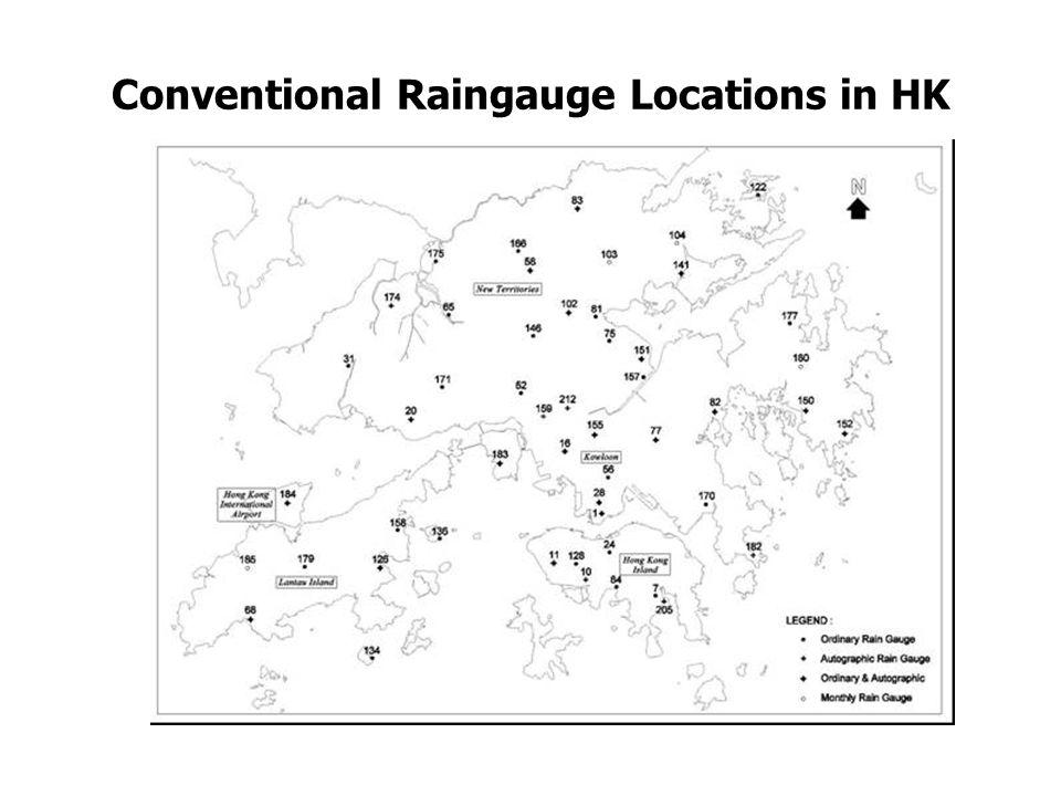 Telemetered Raingauge Network in HK
