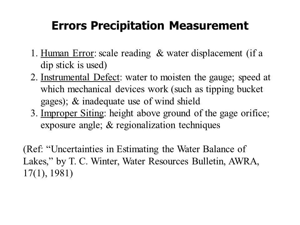 Effect on Wind on Precipitation Measurement