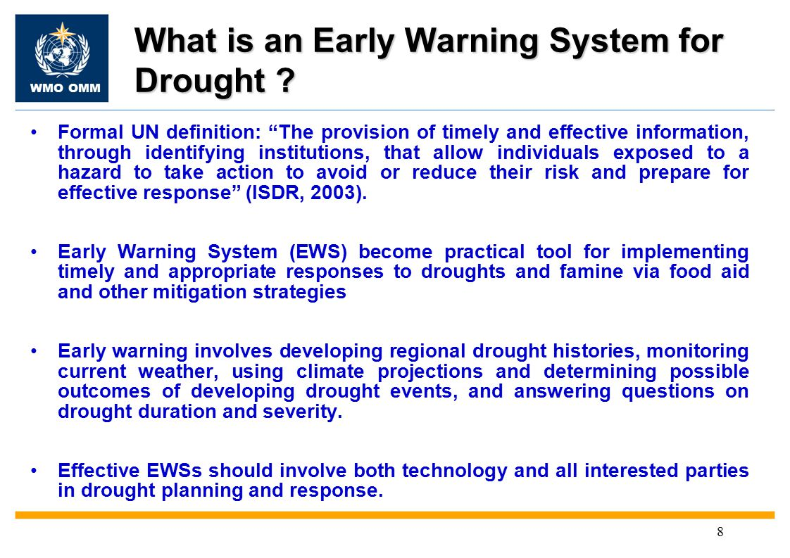 WMO OMM 8 What is an Early Warning System for Drought .