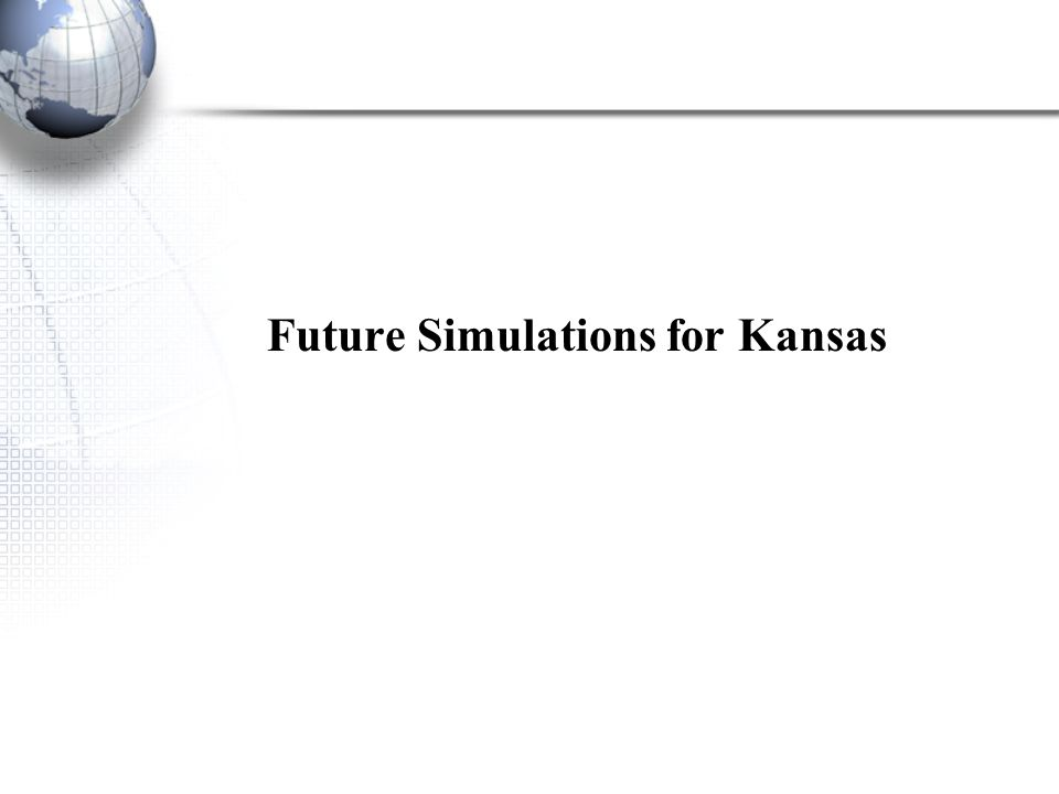 Future Simulations for Kansas