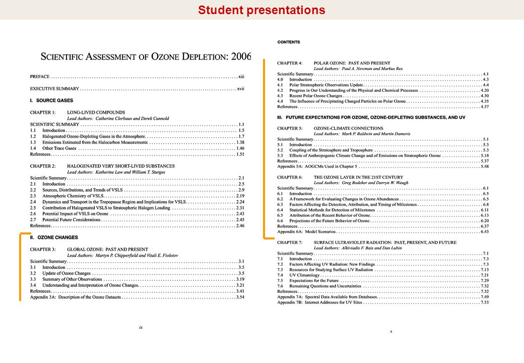 I/10 Student presentations