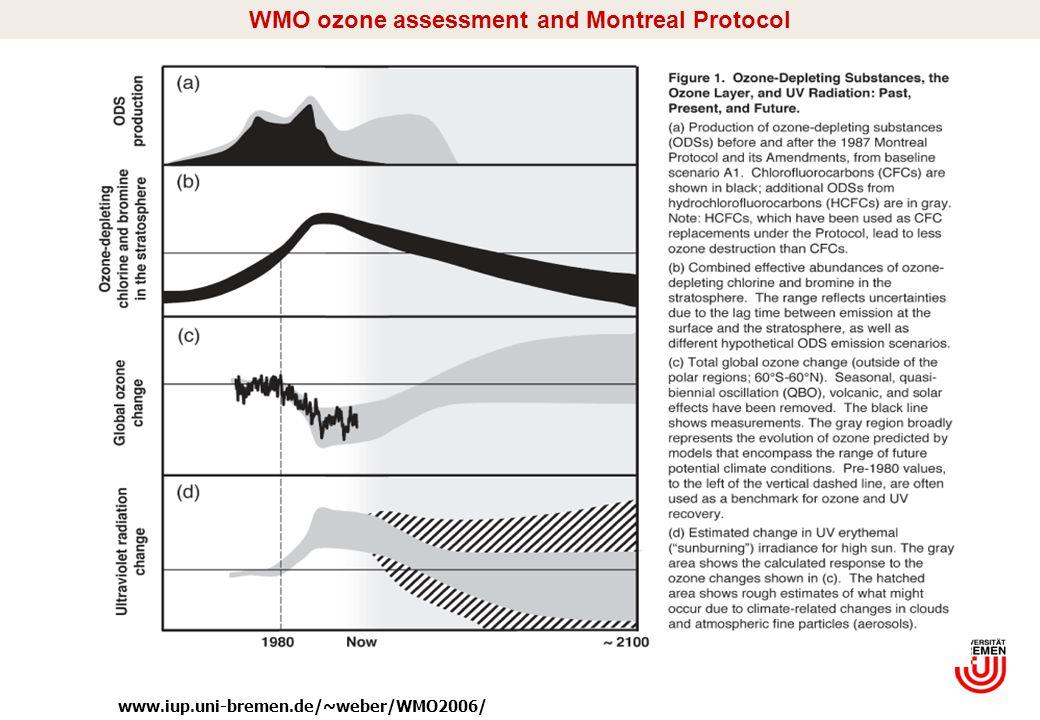 I/7 WMO ozone assessment and Montreal Protocol www.iup.uni-bremen.de/~weber/WMO2006/