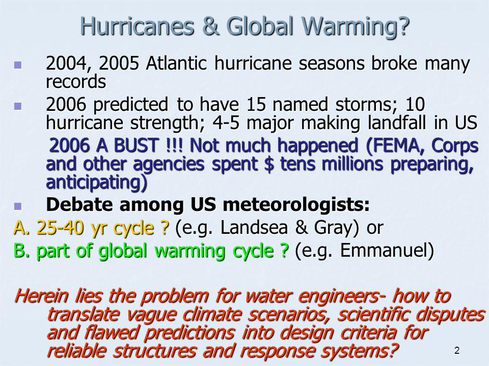 2 Hurricanes & Global Warming.