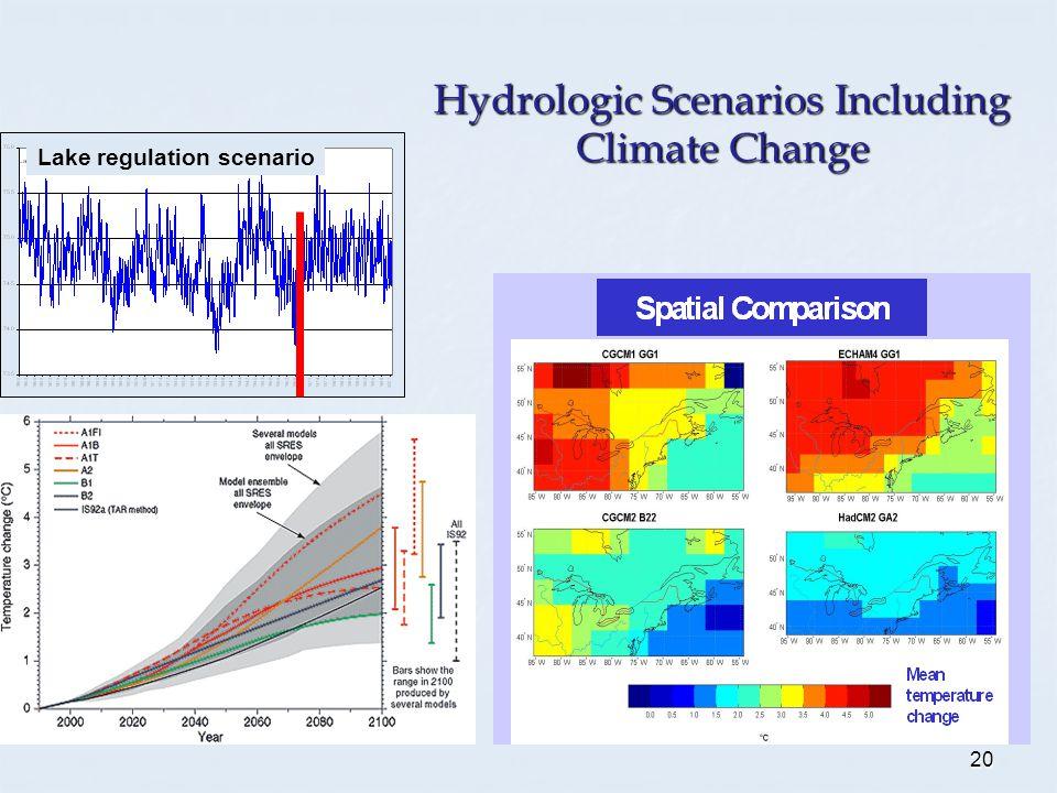 20 Lake regulation scenario Hydrologic Scenarios Including Climate Change