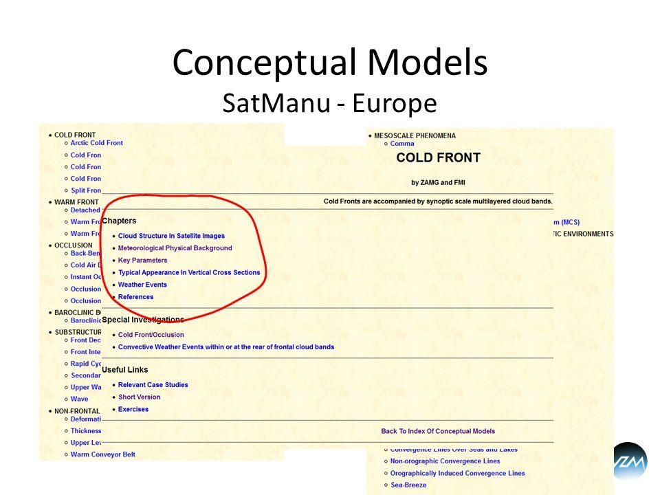 Conceptual Models SatManu - Europe