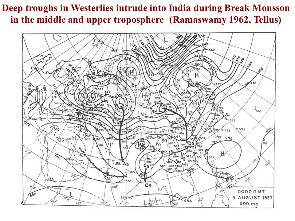The Globalisation of Indian Monsoon continued during the 1960 s. 1)Ramaswamy (Tellus 1962) showed that breaks in the Indian summer monsoon as a phenom