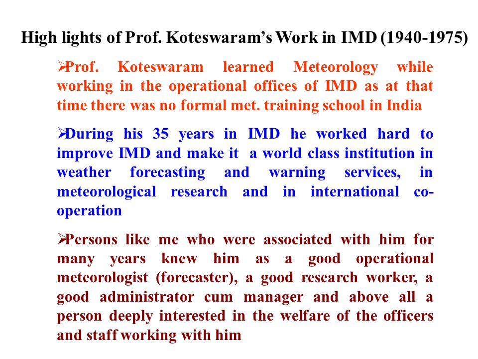  Prof Pancheti Koteswaram was born on 25 March 1915  He obtained D.Sc degree in Physics of the University of Madras in 1939  In 1940 he joined the