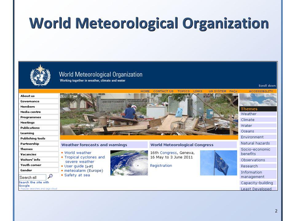 2 World Meteorological Organization