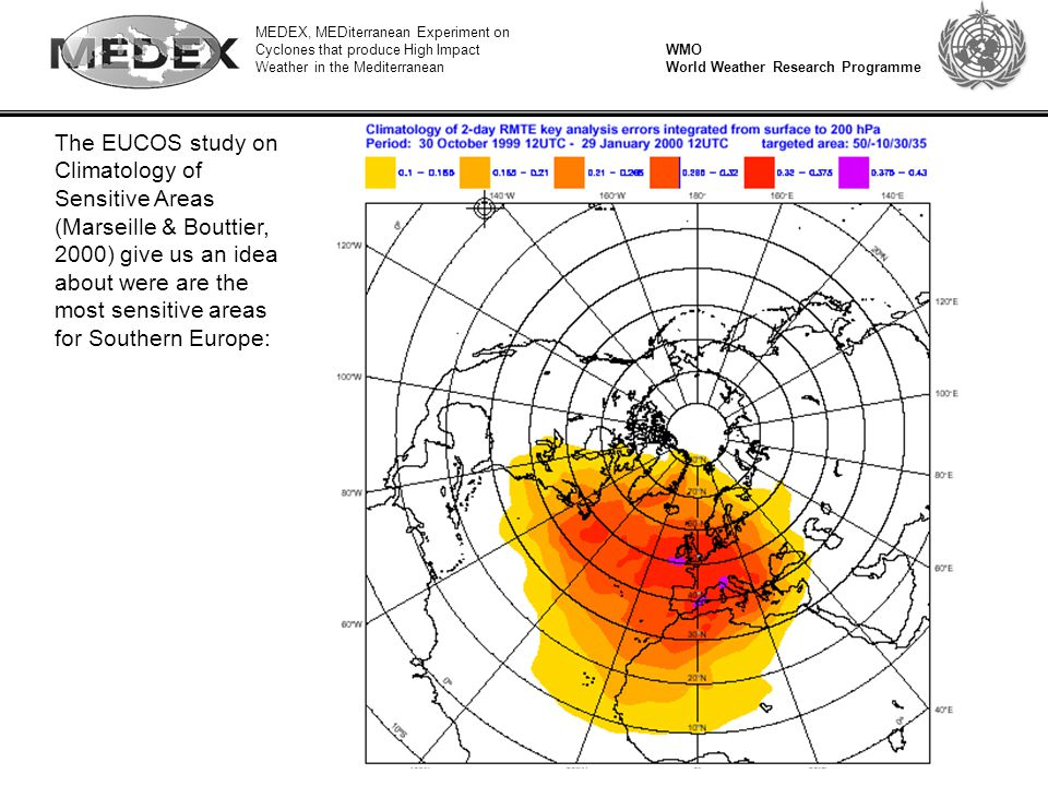 MEDEX, MEDiterranean Experiment on Cyclones that produce High Impact Weather in the Mediterranean WMO World Weather Research Programme The EUCOS study
