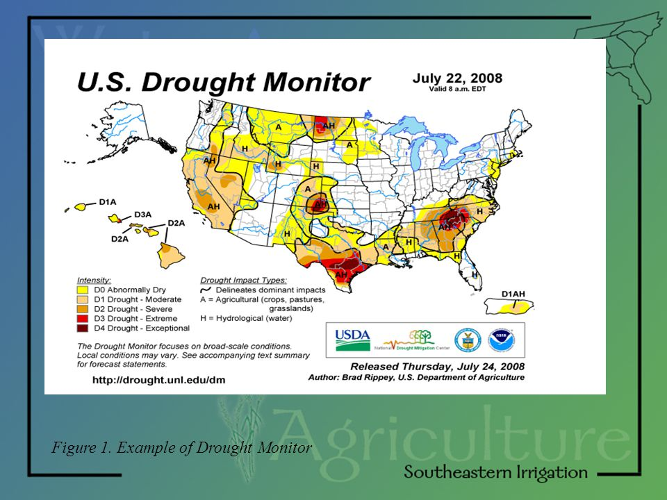 Figure 1. Example of Drought Monitor