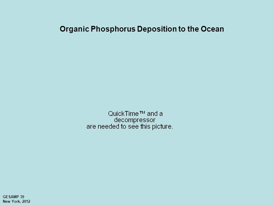 Organic Phosphorus Deposition to the Ocean GESAMP 39 New York, 2012