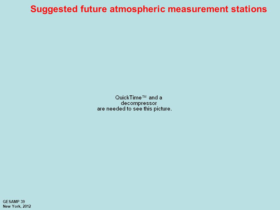 Suggested future atmospheric measurement stations GESAMP 39 New York, 2012