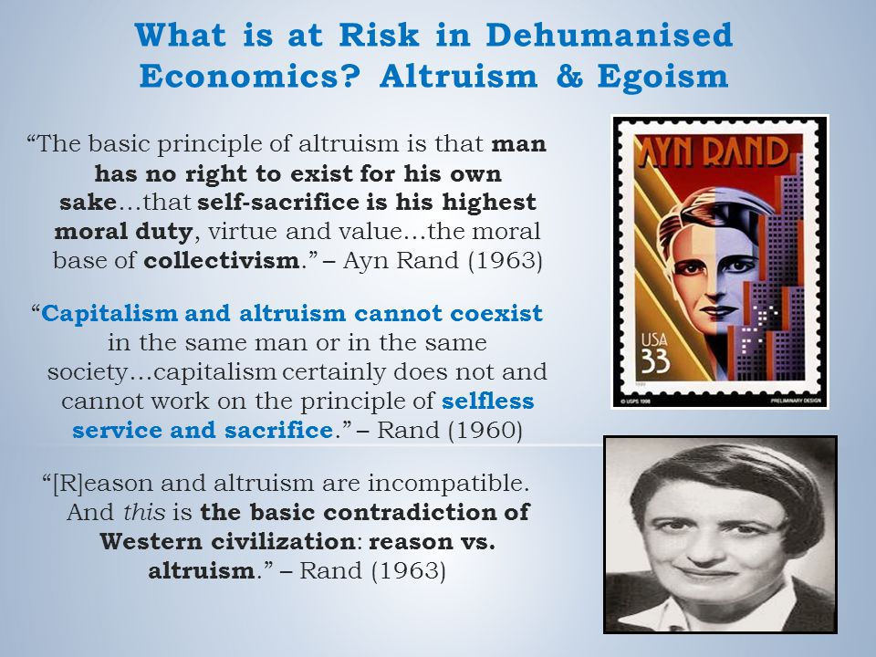 What is at Risk in Dehumanised Economics.