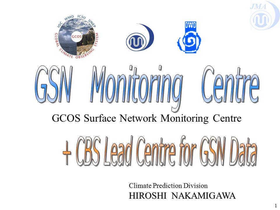 JMA 1 GCOS Surface Network Monitoring Centre Climate Prediction Division HIROSHI NAKAMIGAWA