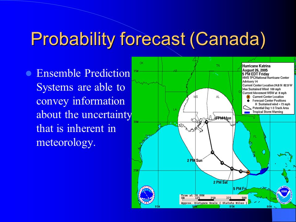 Ensemble Prediction Systems are able to convey information about the uncertainty that is inherent in meteorology.