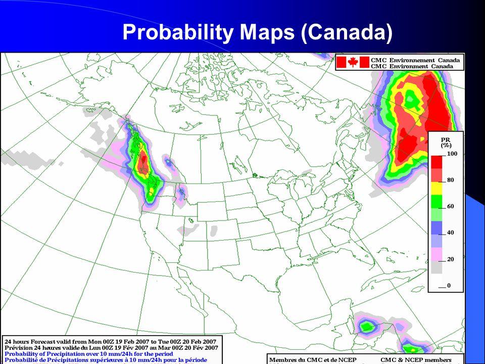 Probability Maps (Canada)