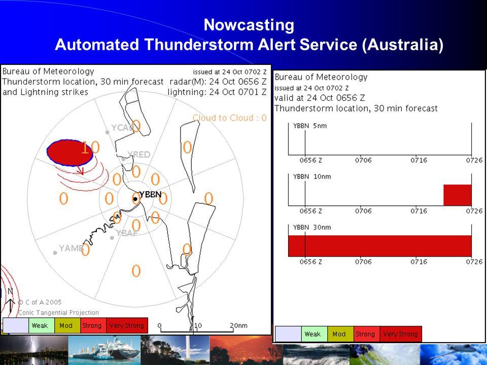 Nowcasting Automated Thunderstorm Alert Service (Australia)