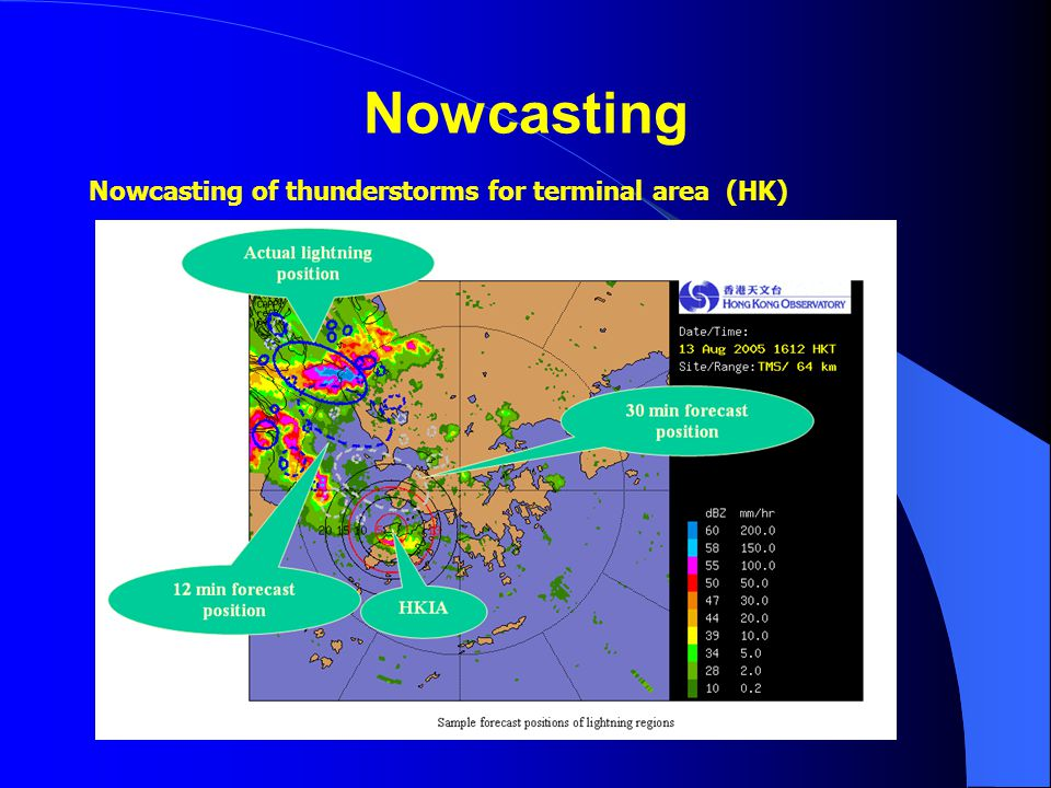 Nowcasting Nowcasting of thunderstorms for terminal area (HK)