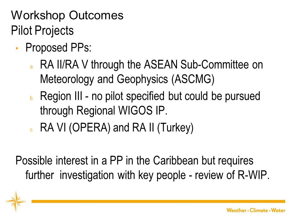 WMO Proposed PPs: a.
