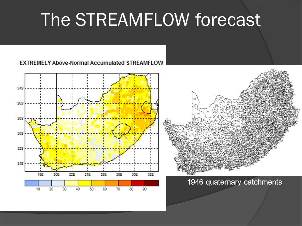 The STREAMFLOW forecast 1946 quaternary catchments