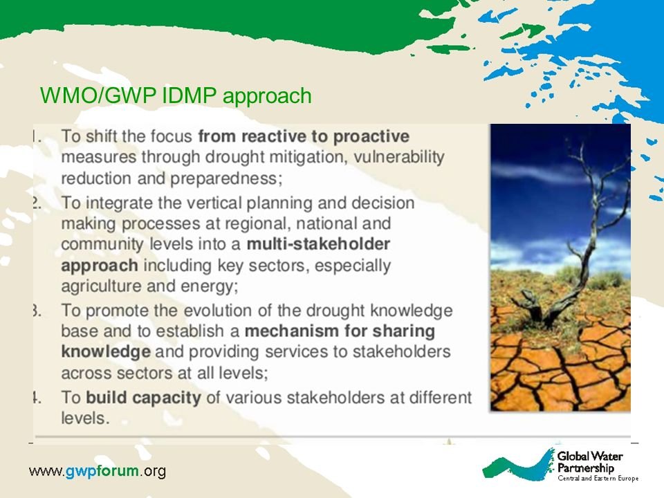 WMO/GWP IDMP approach
