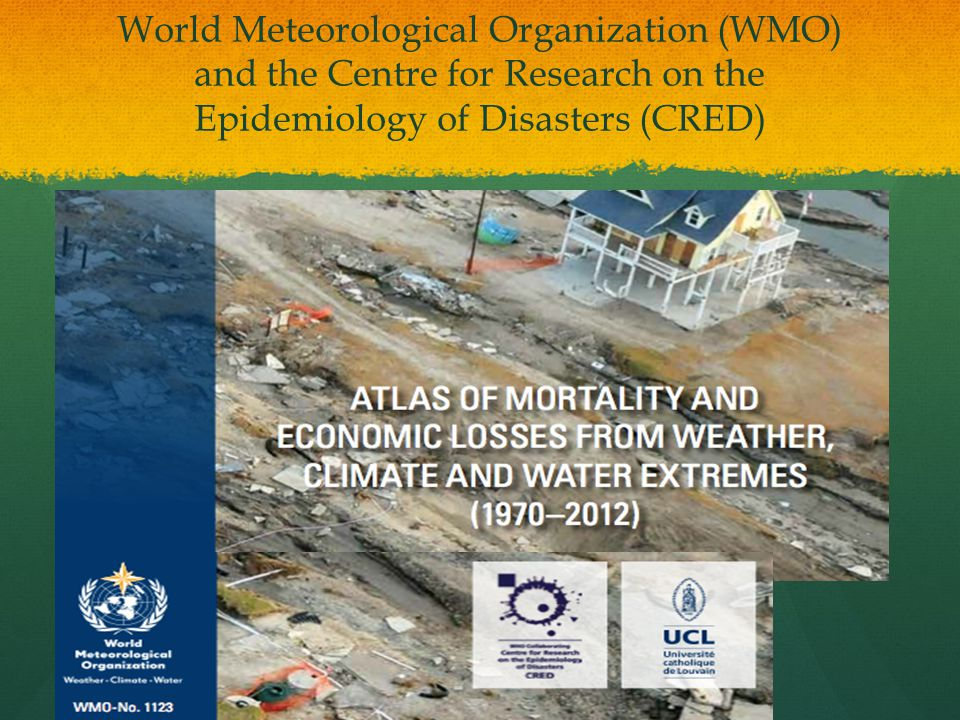WMO World Atlas Results Breakdown by Number, Type & Decade