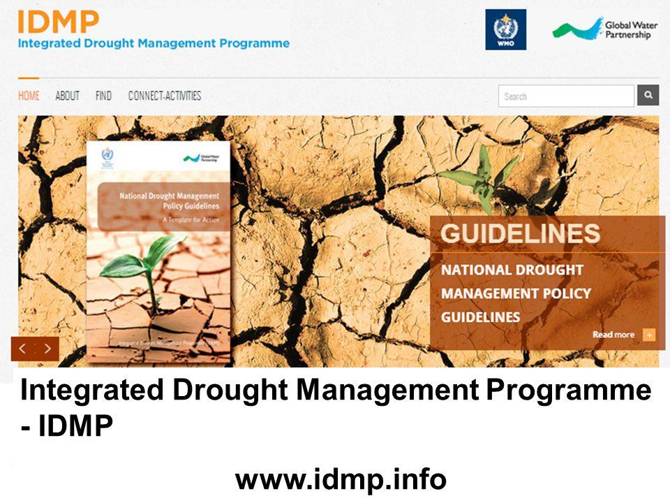 Integrated Drought Management Programme - IDMP www.idmp.info