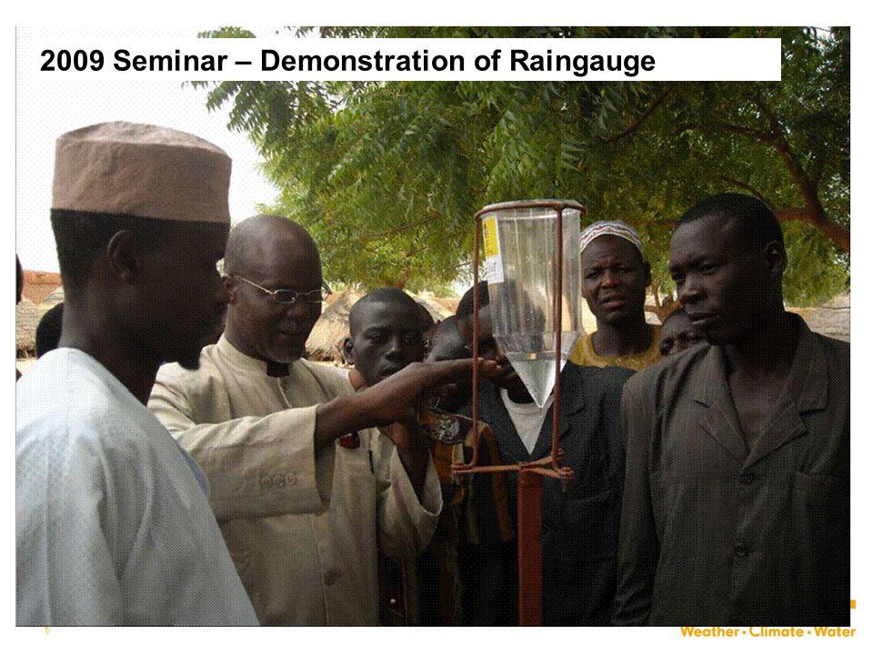 32 2009 Seminar – Demonstration of Raingauge