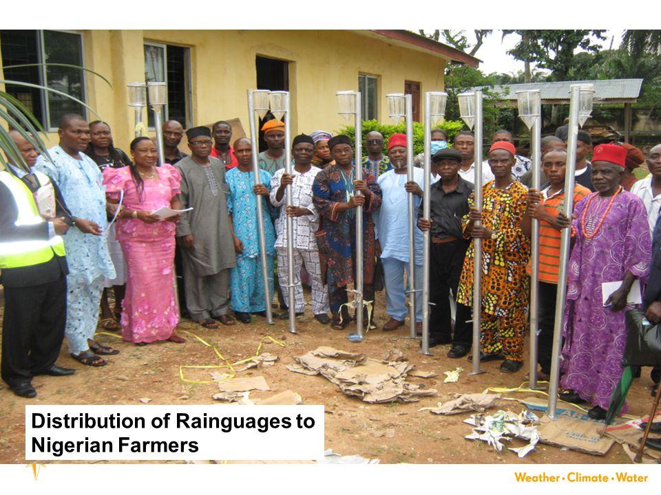 33 Distribution of Rainguages to Nigerian Farmers