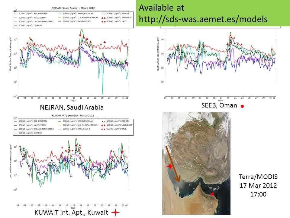 NEJRAN, Saudi Arabia Terra/MODIS 17 Mar 2012 17:00 KUWAIT Int.