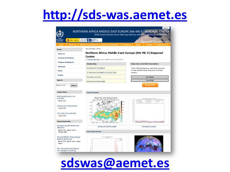 http://sds-was.aemet.es sdswas@aemet.es