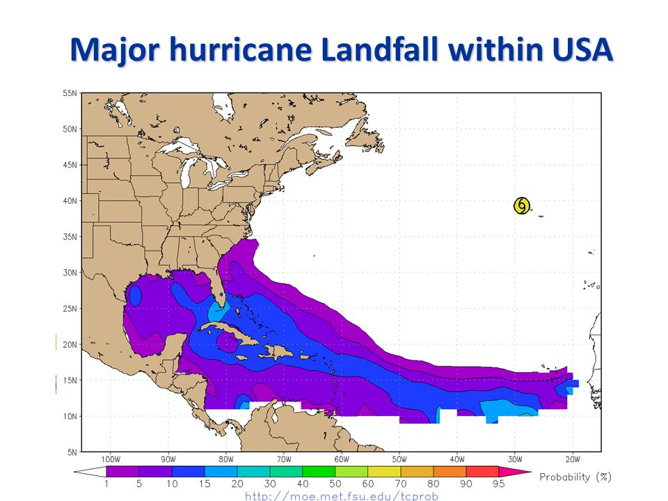 Major hurricane Landfall within USA