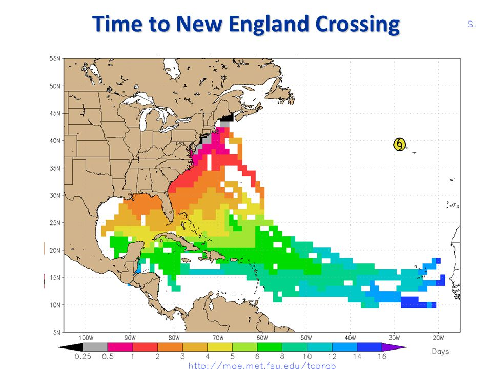 Time to New England Crossing