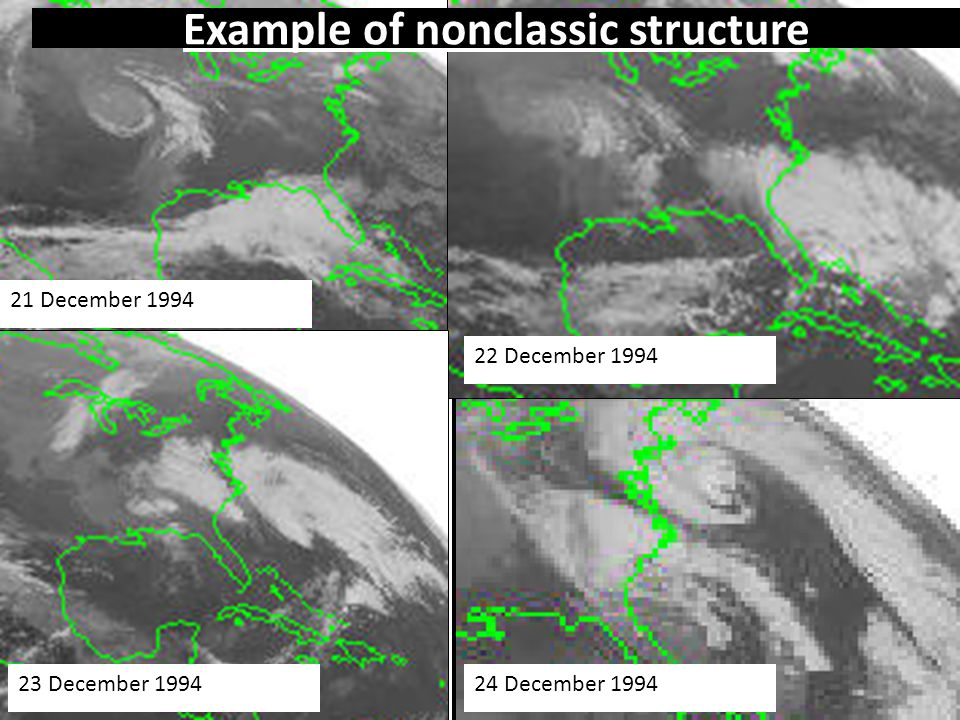 44 21 December 1994 22 December 1994 23 December 199424 December 1994 Example of nonclassic structure
