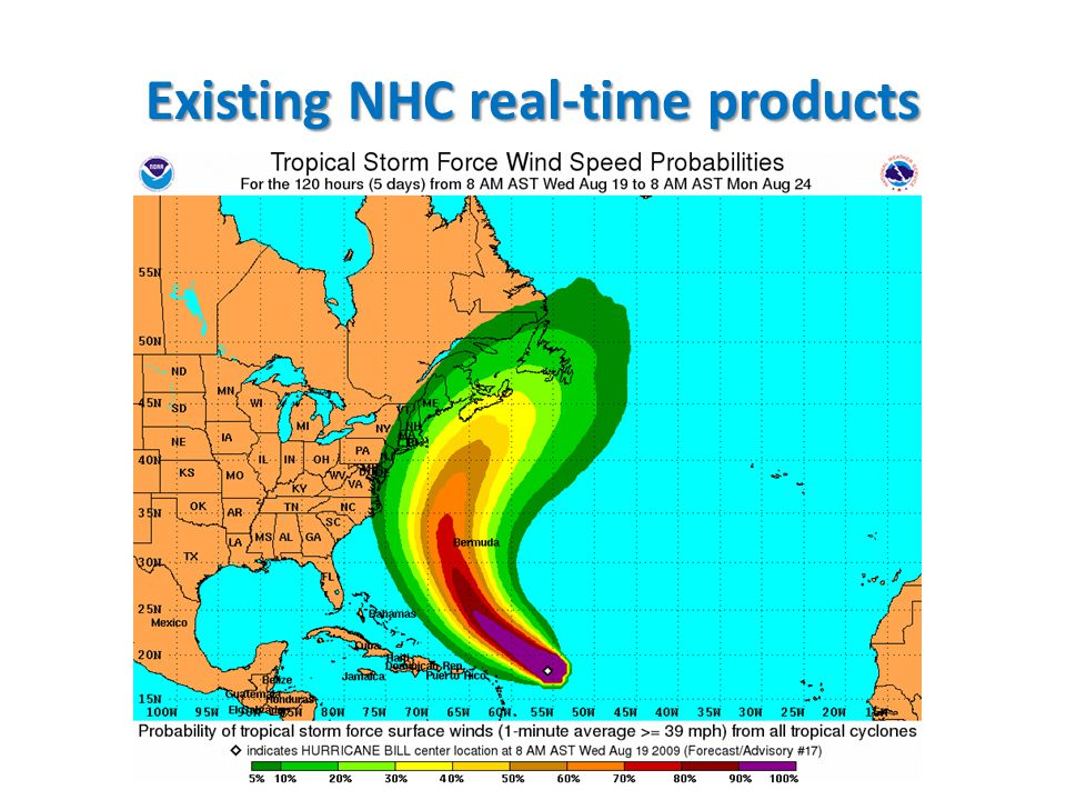 What would be additionally helpful Climatological maps of landfall probability to highlight pathways of enhanced threat well more than 5 days in advance – What is the most preferred pathway for a TC to make eventual landfall in Bermuda.