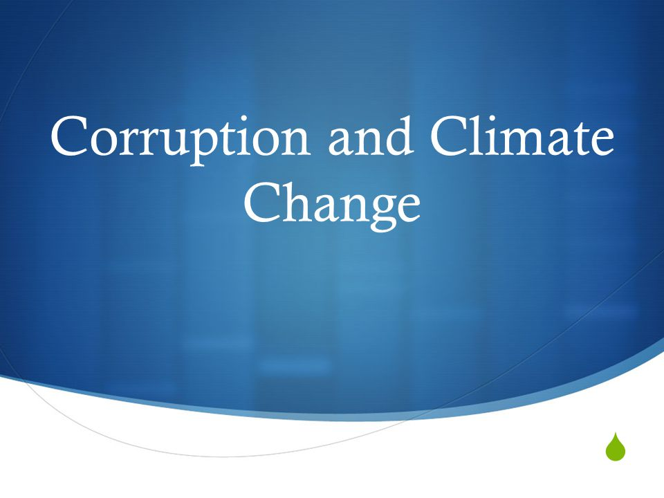  Corruption and Climate Change