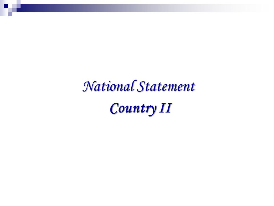 National Statement Country II