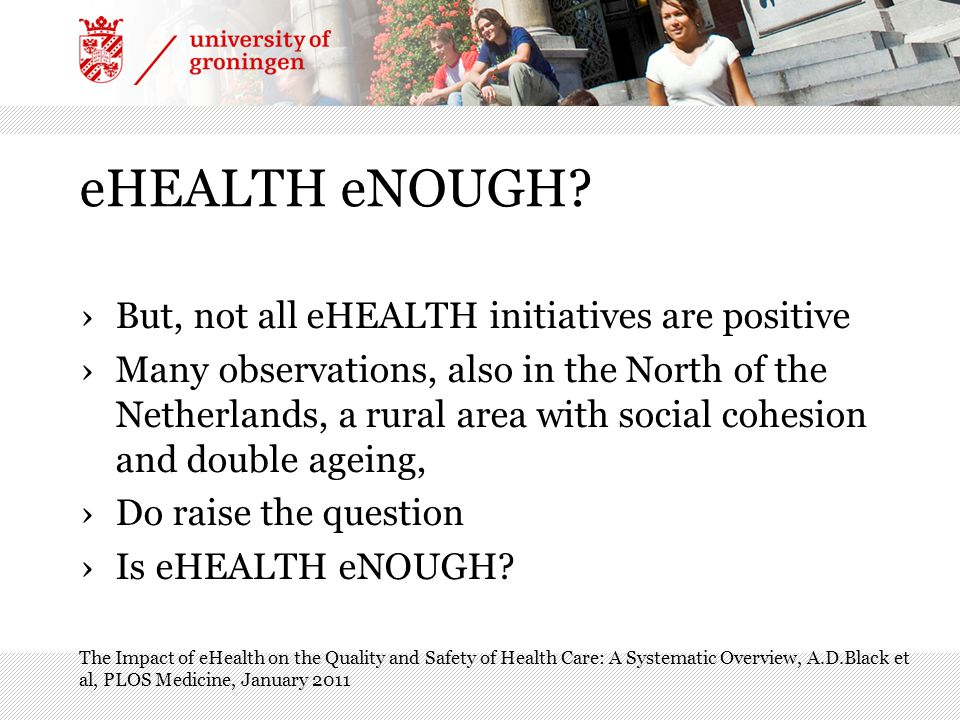 eHEALTH eNOUGH.