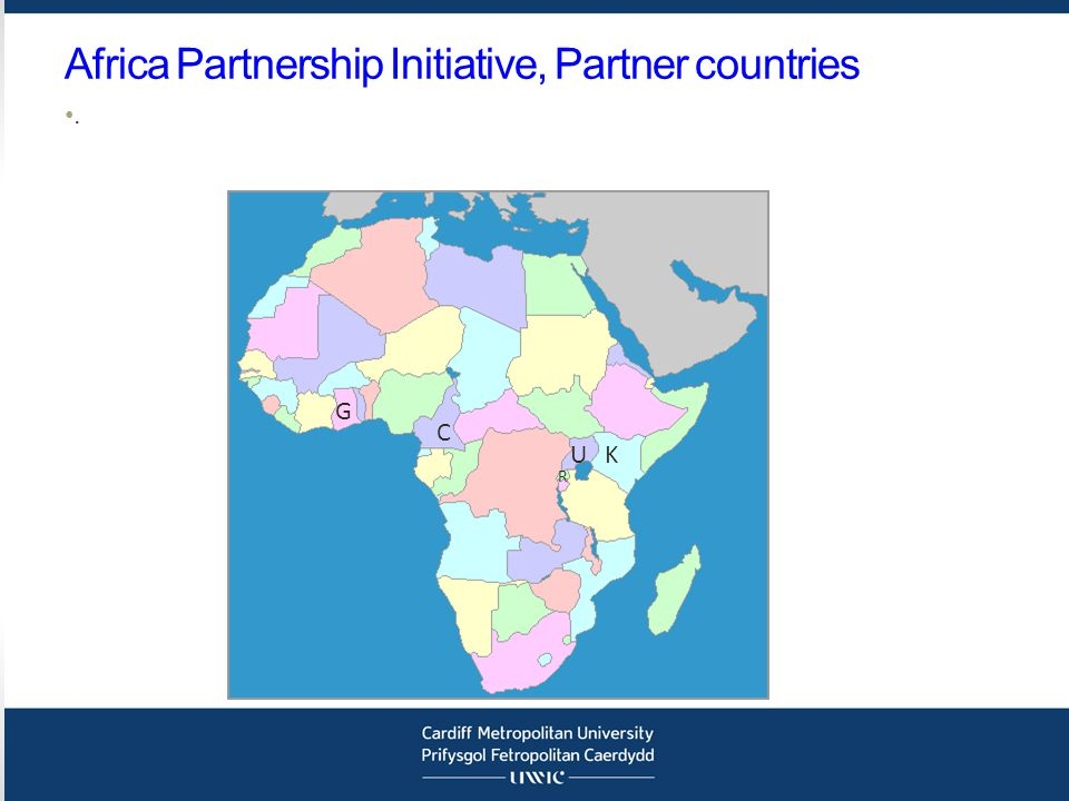 Africa Partnership Initiative, Partner countries. KU R G C