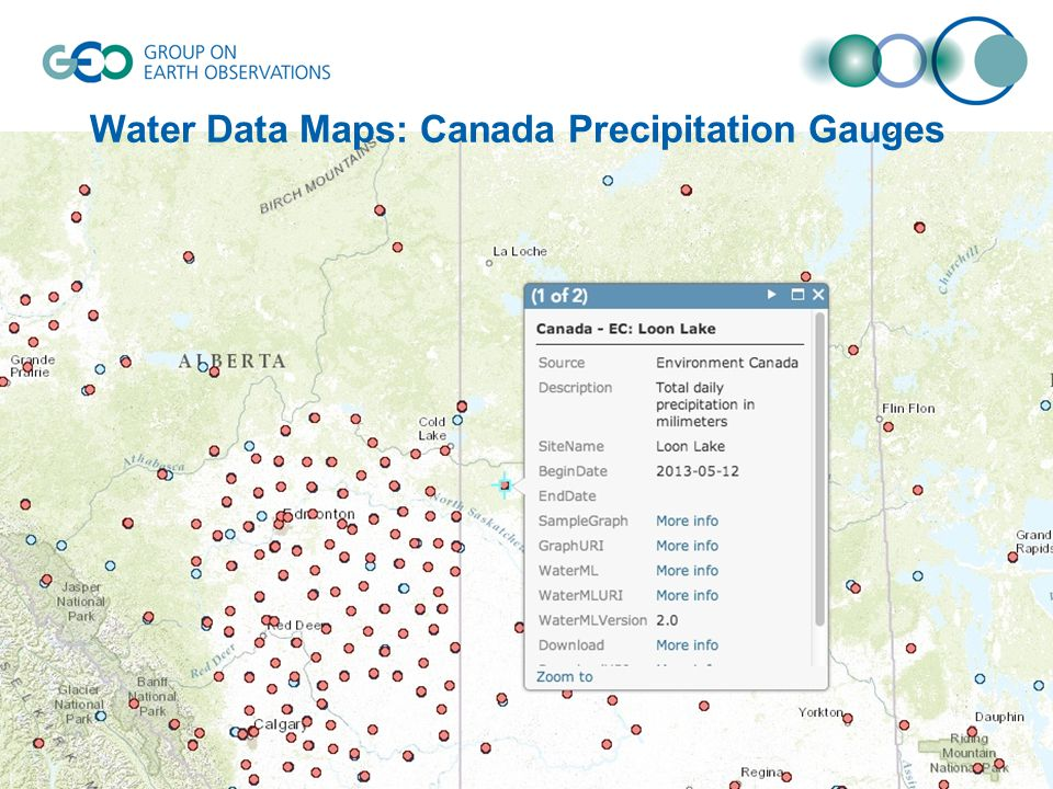 Water Data Maps: Canada Precipitation Gauges