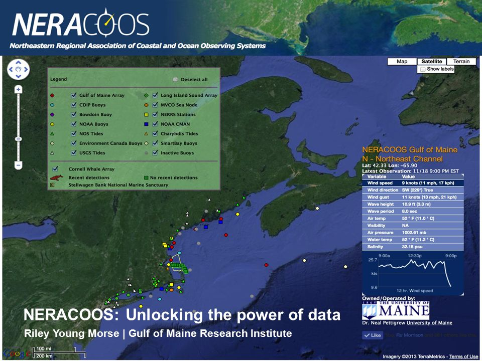 NERACOOS: Unlocking the power of data Riley Young Morse | Gulf of Maine Research Institute