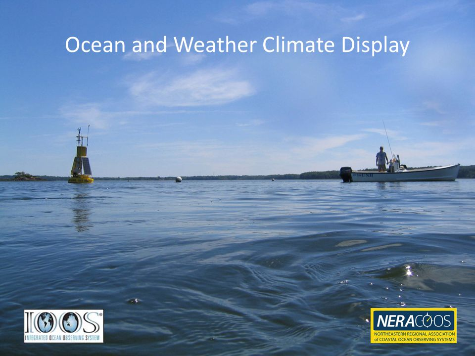 Ocean and Weather Climate Display