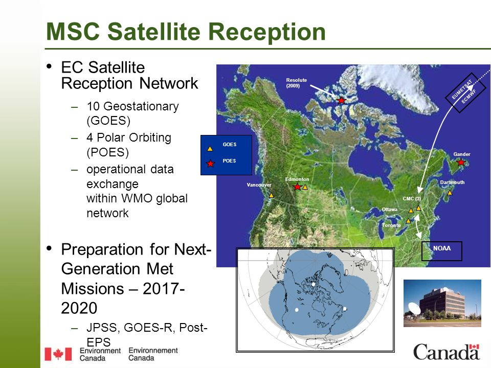 GOES-now 3 satellites in orbit 5 Imager bands 30 min full disk GOES-R Launch 2016 16 Imager bands 5 min full disk Next Gen Geostationary Satellite: GOES-R Evolution of Geostationary EOGOES-I/PGOES-R 1/5 Disk