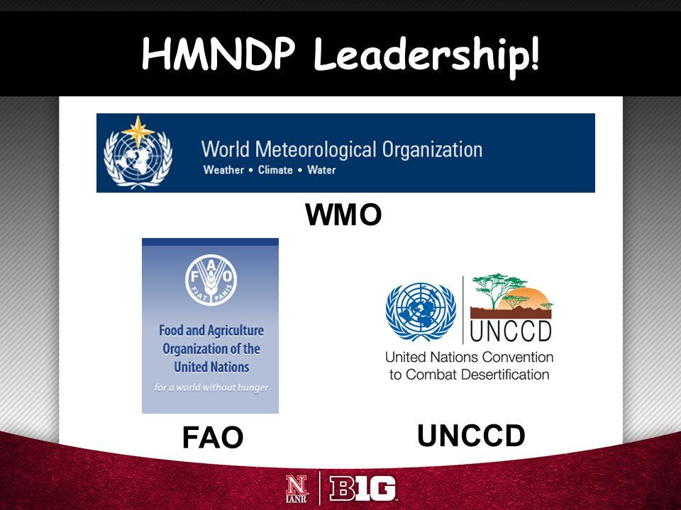 HMNDP Leadership! FAO WMO UNCCD