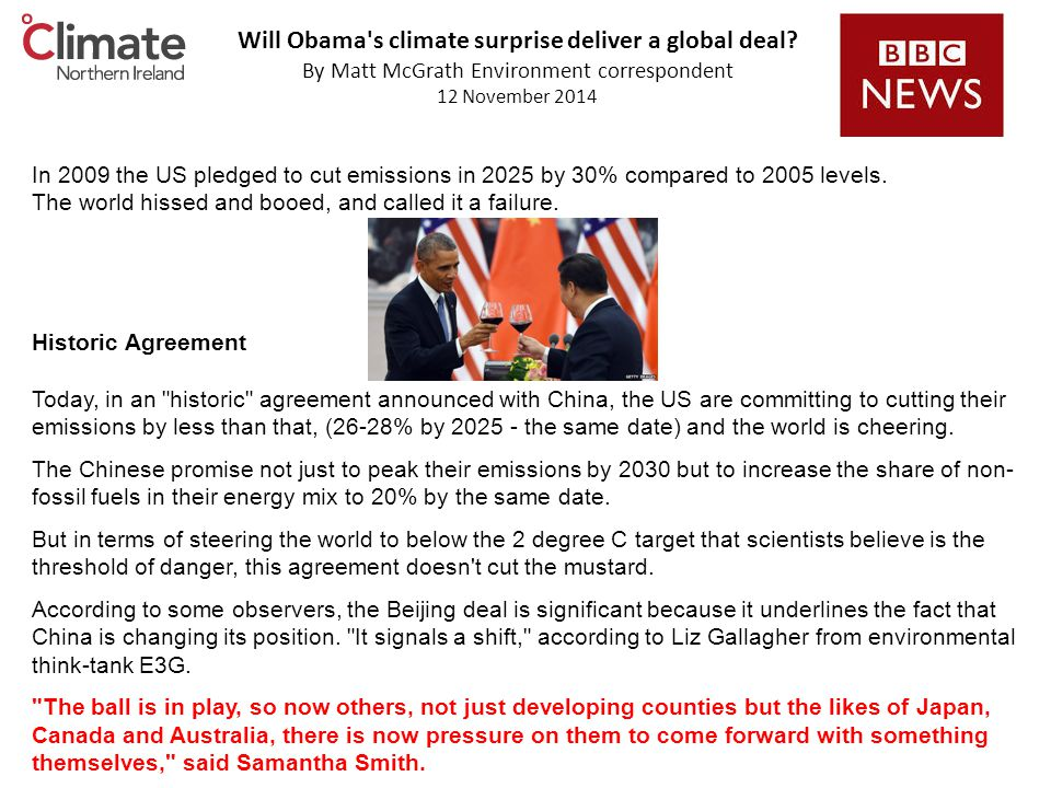 Will Obama s climate surprise deliver a global deal.